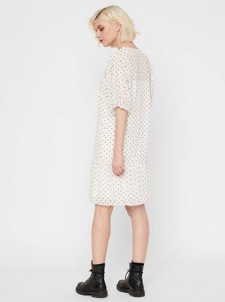 Bílé puntíkované šaty Noisy May June