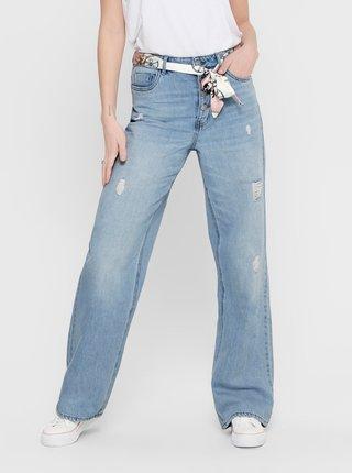 Modré straight fit džíny ONLY Molly