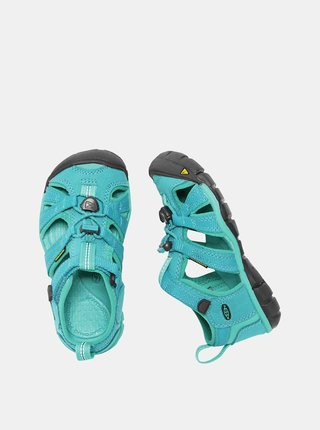 Tyrkysové detské sandále Keen Seacamp II CNX K