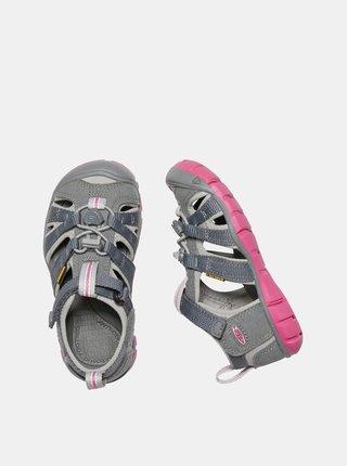 Růžovo-šedé holčičí sandály Keen Seacamp II CNX C