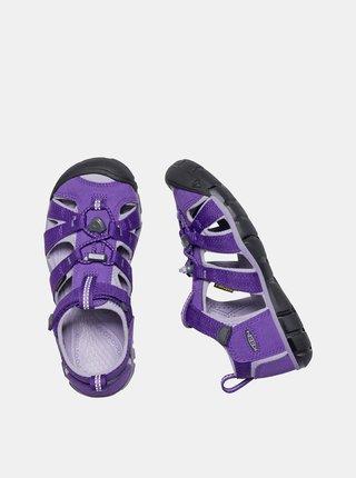 Fialové dětské sandály Keen Seacamp II CNX C