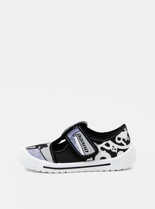 Šedo-čierne chlapčenské vzorované topánky 3F