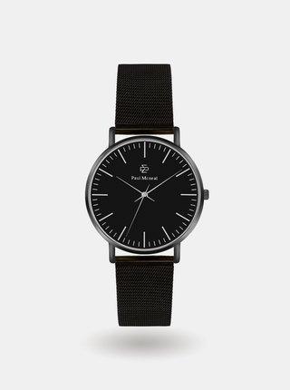 Pánské hodinky s černým nerezovým páskem Paul McNeal