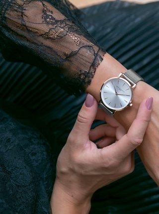 Dámské hodinky s nerezovým páskem ve stříbrné barvě Annie Rosewood Primrose