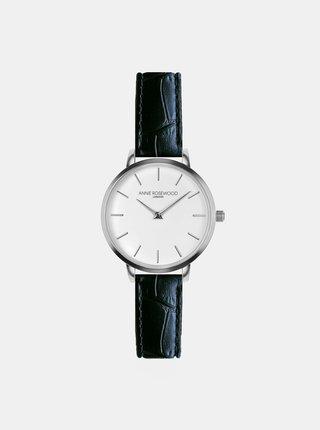 Dámské vzorované hodinky s černým koženým páskem Annie Rosewood