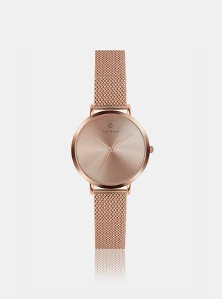 Dámske hodinky s nerezovým remienkom v ružovozlatej farbe Paul McNeal