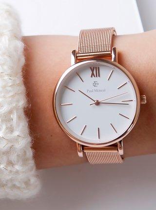 Dámské hodinky s nerezovým páskem v růžovozlaté barvě Paul McNeal