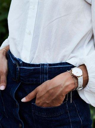 Dámské hodinky s bílým koženým páskem Rosefield
