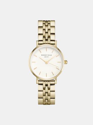 Dámske hodinky s nerezovým remienkom v zlatej farbe Rosefield