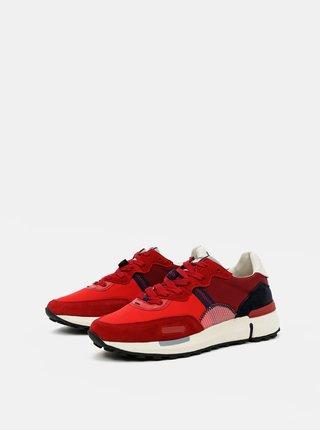 Červené pánské kožené tenisky Wrangler Iconic 70
