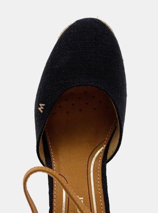 Tmavomodré dámske sandálky na plnom podpätku Wrangler