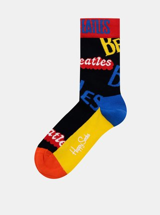 Žlto-čierne ponožky Happy Socks Beatles In The Name Of Sock