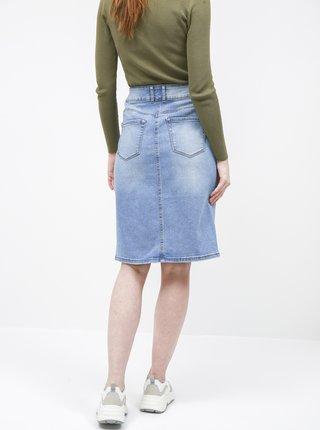 Svetlomodrá rifľová púzdrová sukňa Tom Tailor