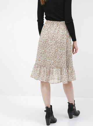 Béžová vzorovaná sukně Jacqueline de Yong Rufus
