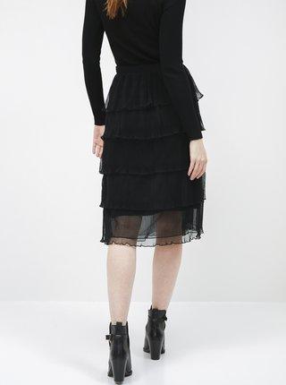 Čierna midi sukňa VERO MODA Mira