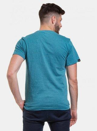Modré pánske tričko s potlačou Meatfly Logo
