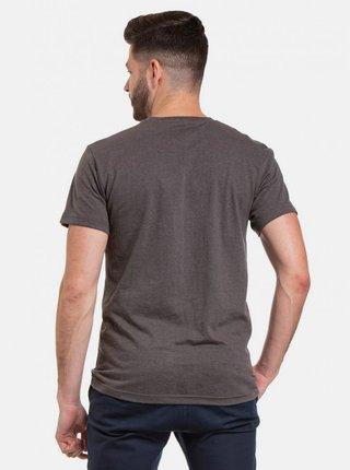 Tmavošedé pánske tričko s potlačou Meatfly Logo