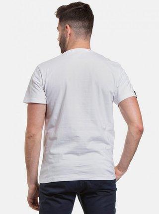 Biele pánske tričko s potlačou Meatfly Bomb
