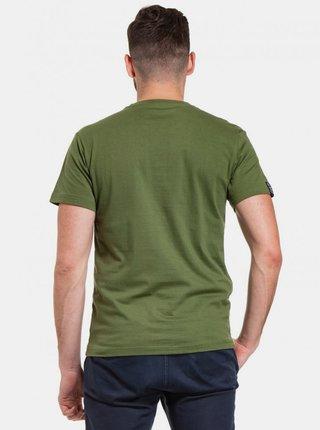 Zelené pánske tričko s potlačou Meatfly Chief
