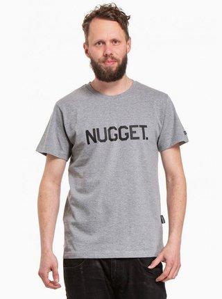 Šedé pánske tričko NUGGET Logo 20