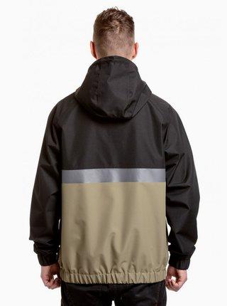 Kaki-čierna pánska vodeodolná bunda NUGGET Scope