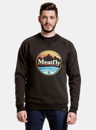 Čierna pánska mikina s potlačou Meatfly Shore