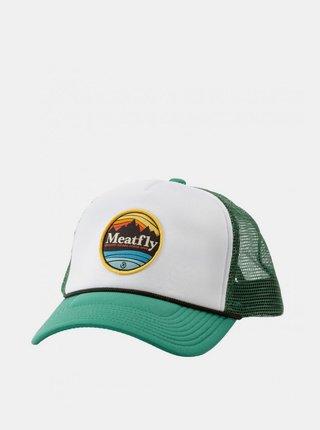 BIelo-zelená pánska šiltovka Meatfly Brisk