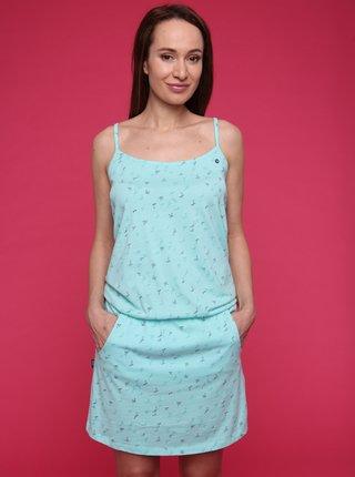 Tyrkysové dámske vzorované šaty LOAP Barila