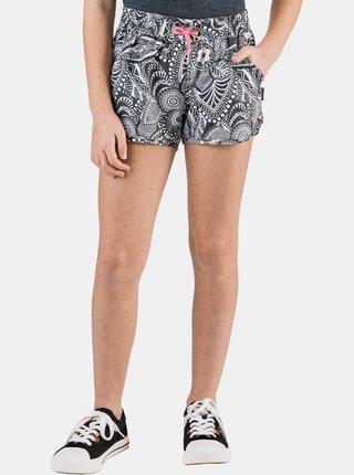 Bielo-čierne dievčenské vzorované šortky SAM 73