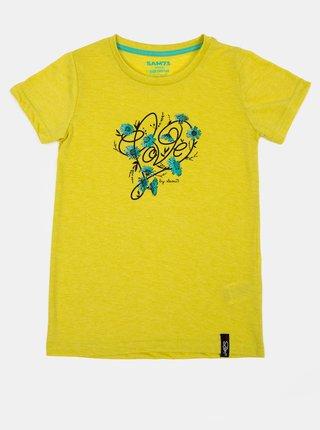 Žlté dievčenské tričko s potlačou SAM 73