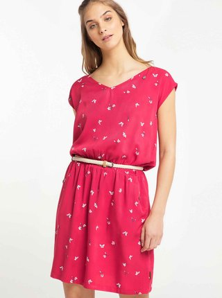 Červené vzorované šaty Ragwear Zuzka