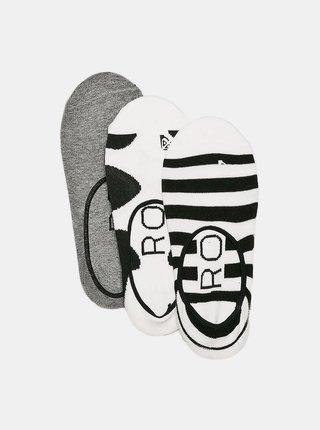Sada tří párů ponožek v bílé a černé barvě Roxy