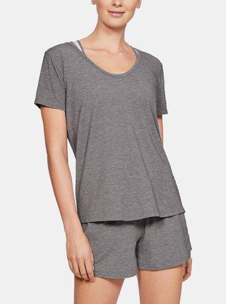 Šedé dámské pyžamové tričko Recovery Under Armour