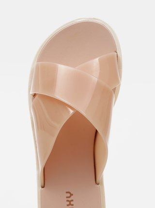 Růžové dámské pantofle Zaxy
