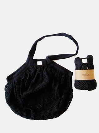 Síťovinová taška s drobnými oky - černá Casa Organica
