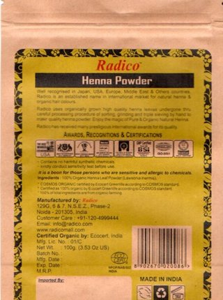 Henna BIO 100 g Radico