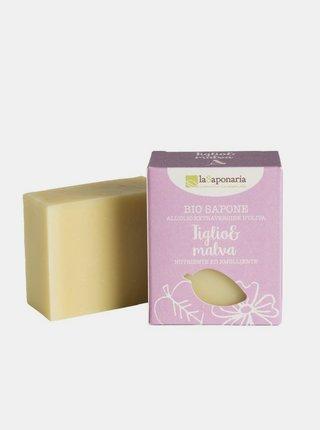 Tuhé olivové mýdlo BIO - Lípa a sléz 100 g laSaponaria