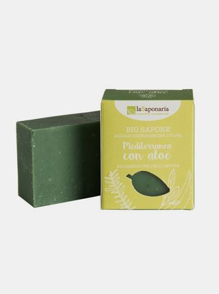 Tuhé olivové mýdlo BIO - Středomořské bylinky s aloe 100 g laSaponaria