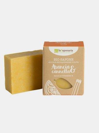 Tuhé olivové mýdlo BIO - Pomeranč a skořice 100 g laSaponaria