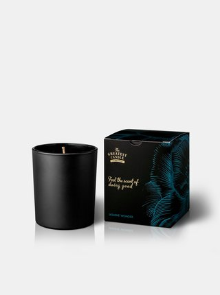 Vonná svíčka v černém skle - jasmínový zázrak 170 g The Greatest Candle In The World