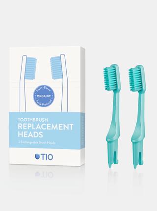 Náhradní hlavice k zubnímu kartáčku (ultra soft) - tyrkysově zelená 2 ks TIO