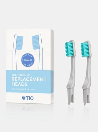 Náhradní hlavice k zubnímu kartáčku (ultra soft) - oblázkově šedá 2 ks TIO