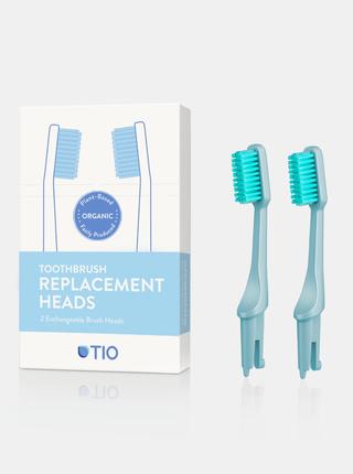 Náhradní hlavice k zubnímu kartáčku (medium) - ledovcově modrá 2 ks TIO