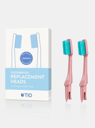 Náhradní hlavice k zubnímu kartáčku (medium) - korálově růžová 2 ks TIO