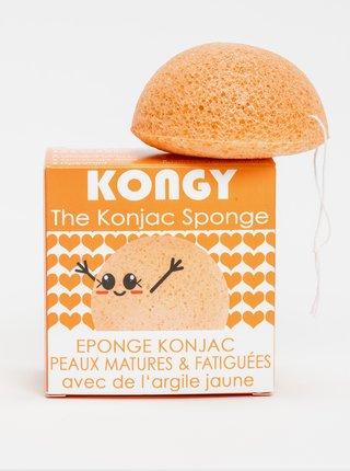 Konjaková houbička pro zralou pleť - žlutý jíl Kongy