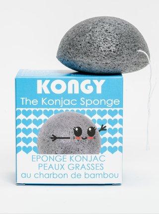 Konjaková houbička pro mastnou a aknózní pleť - bambusové uhlí Kongy