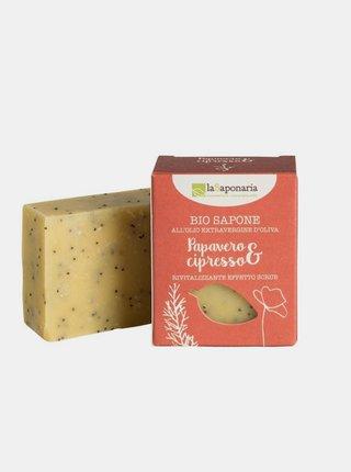 Tuhé olivové mýdlo BIO - Mák a cypřiš 100 g laSaponaria