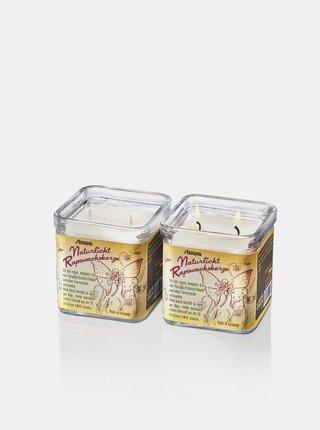 Svíčka se dvěma knoty ve skle - bez vůně 210 g Stuwa