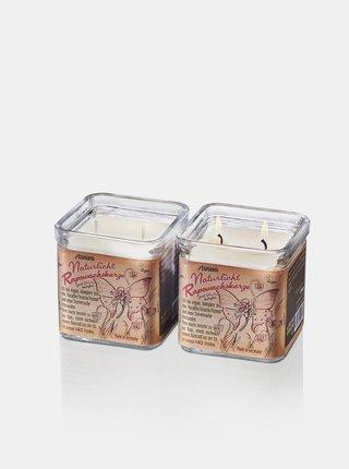 Svíčka se dvěma knoty ve skle - vanilka 210 g Stuwa