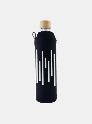 Skleněná láhev v neoprenovém obalu Drinkit Barcode 500 ml